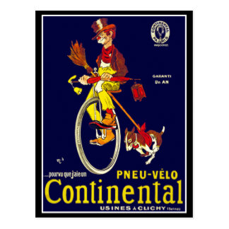 Postcard: Vintage Bicycle Ad:  Continental