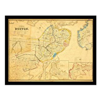 Postcard-Vintage Boston Maps-10 Postcard