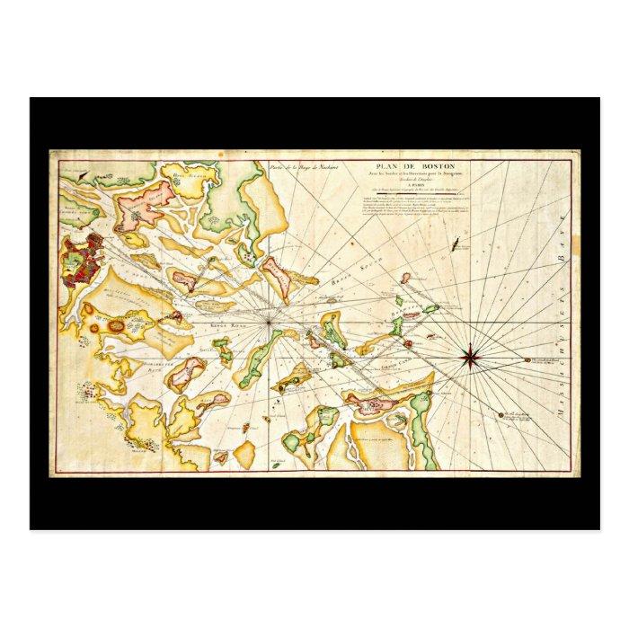 Postcard-Vintage Boston Maps-11 Postcard