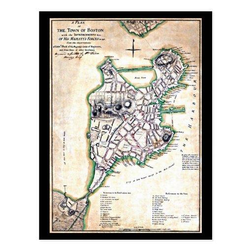 Postcard-Vintage Boston Maps-14 Postcard