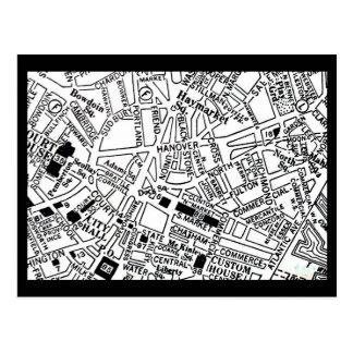 Postcard-Vintage Boston Maps-15 Postcard