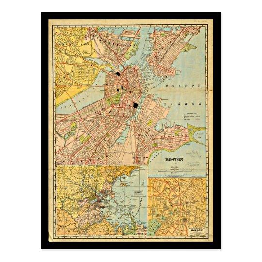 Postcard-Vintage Boston Maps-21 Postcard