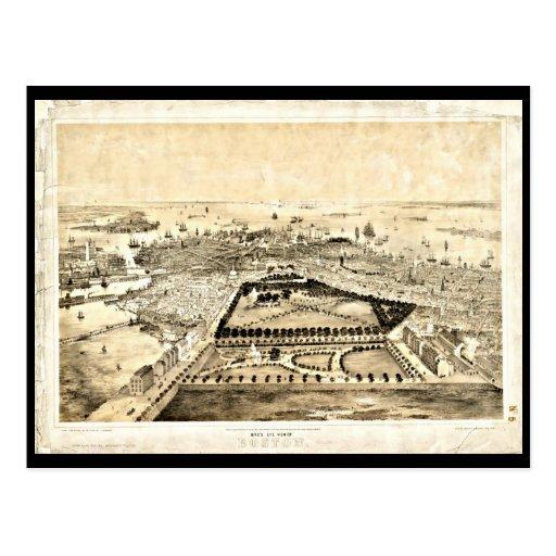 Postcard-Vintage Boston Maps-27