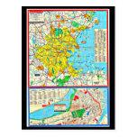 Postcard-Vintage Boston Maps-3