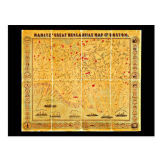 Postcard-Vintage Boston Maps-4 Postcard