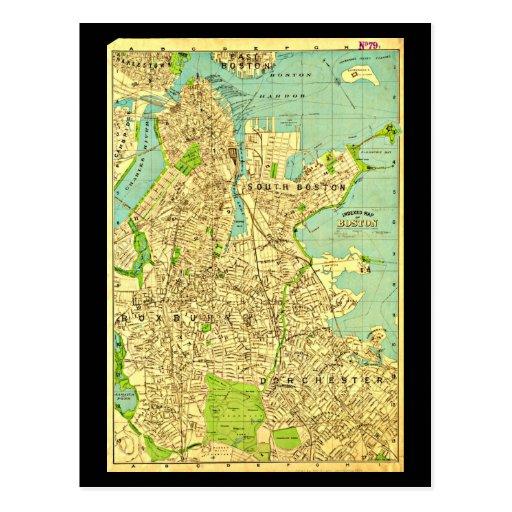 Postcard-Vintage Boston Maps-6