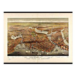 Postcard-Vintage Boston Maps-7 Postcard