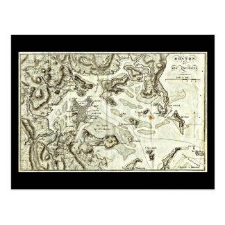 Postcard-Vintage Boston Maps-8 Postcard