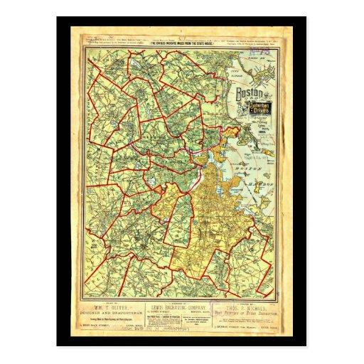 Postcard-Vintage Boston Maps-9