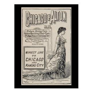 Postcard-Vintage Chicago Travel Art-5 Postcard