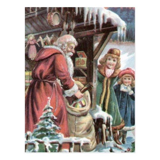 Postcard Vintage Christmas Santa