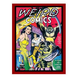 Postcard Vintage Comic Book Covers