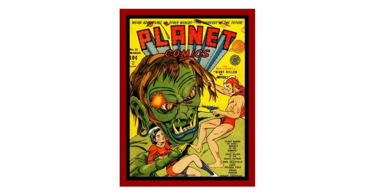 Vintage Book Cover Postcards : Postcard vintage comic book covers zazzle