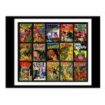 Postcard Vintage Comic Book Covers Postcard