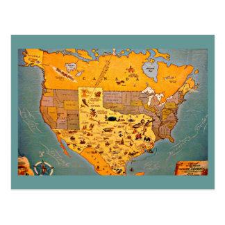 Postcard-Vintage Dallas Artwork-50 Postcard