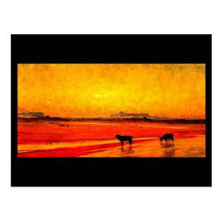 Postcard-Vintage Dallas Artwork-Frank Reaugh 10 Postcard