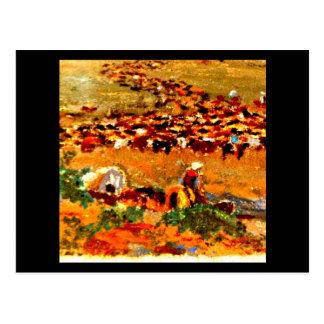 Postcard-Vintage Dallas Artwork-Frank Reaugh 12 Postcard