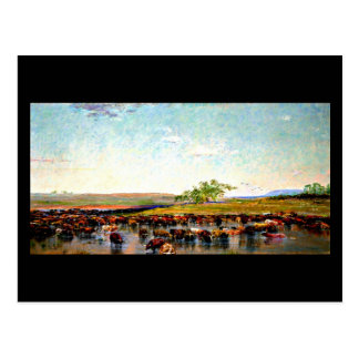 Postcard-Vintage Dallas Artwork-Frank Reaugh 3 Postcard