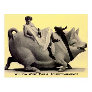 Postcard Vintage Farm Ranch Fun Housewarming PC