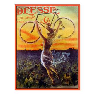 Postcard: Vintage French Bicycle Art