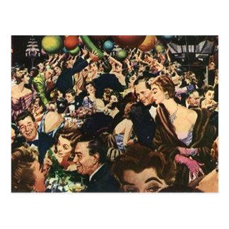 Postcard Vintage Fun Party Celebration Bash Crowd