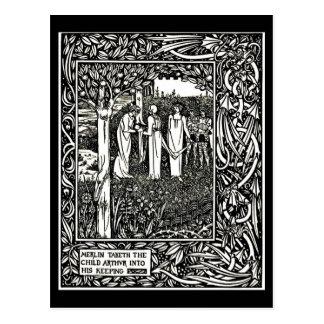 Postcard-Vintage Illustration-Aubrey Beardsley 27 Postcard