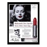 Postcard-Vintage Lipstick Advertisement