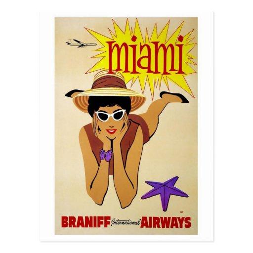 Postcard-Vintage Miami Postcard
