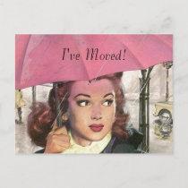 Postcard Vintage New Home Job I've Moved Address