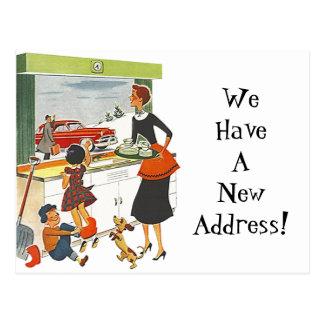 Postcard Vintage New Home Job Moved Address Fun PC