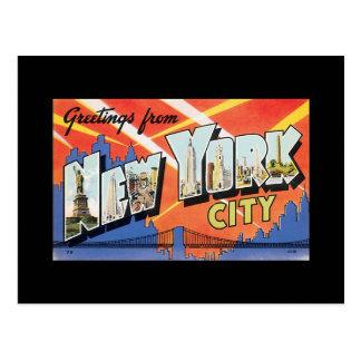 Postcard Vintage New York City Poster