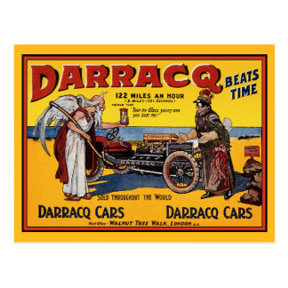 Postcard: Vintage Race Car: Darracq Cars