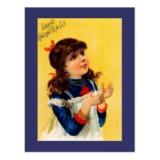 Postcard Vintage Retro Advertisement Union Tea PC