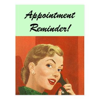 Postcard Vintage Retro Appointment Reminder PC