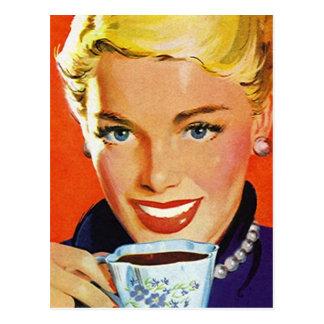 Postcard Vintage Retro Coffee Klatch Klatsch PC