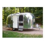 vintage, retro, mid-century, caravel, trailer,