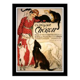 "Postcard:  Vintage Steinlen ""Clinique Cheron"" Postcard"
