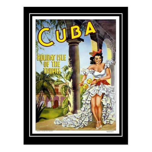 Postcard Vintage Travel Cuba Post Cards