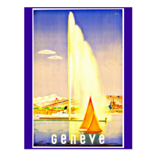 Postcard-Vintage Travel-Geneva Postcard