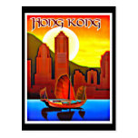 Postcard-Vintage Travel-Hong Kong