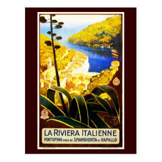 Postcard-VIntage Travel-La Riviera Italienne Postcard