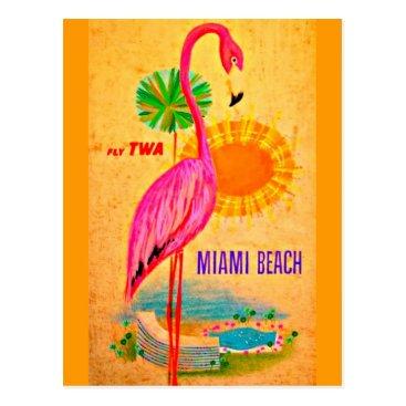 Beach Themed Postcard-Vintage Travel-Miami Beach Postcard