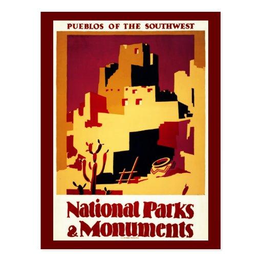 Postcard-VIntage Travel-Pueblos of Southwest