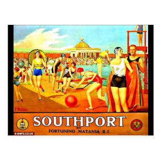 Postcard-Vintage Travel-Southport Postcard