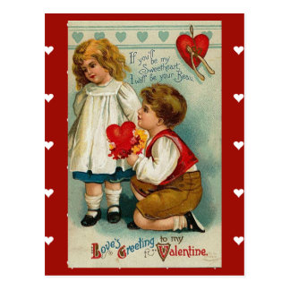 Postcard-Vintage Valentine for your sweetheart Postcard