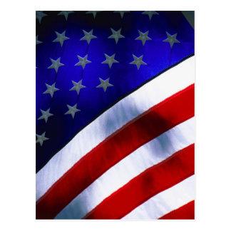 Postcard w/ AMERICAN FLAG