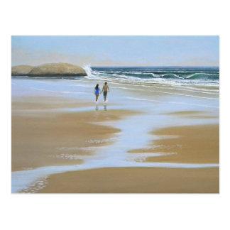 Postcard Walking The Beach