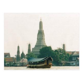 Postcard Wat Arun at Chao Phraya River in Bangkok Postales