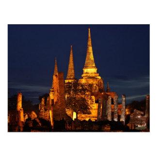 Postcard Wat Phra Si in Ayutthaya Thailand Postales