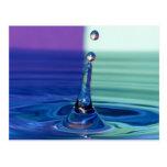 Postcard water drop